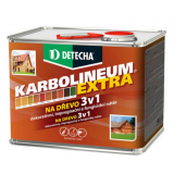 Detecha Karbolineum Extra 3,5 kg pinia-impregnačný lazúrovací náter na drevo
