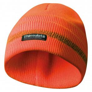 GEBOL 700000 čepice s reflexní proužky oranžová Thinsulate vložka