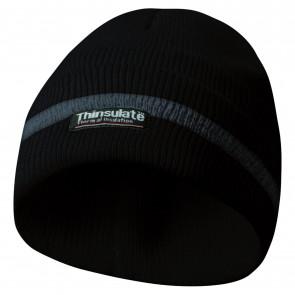 GEBOL 700003 čepice s reflexní proužky černá Thinsulate vložka