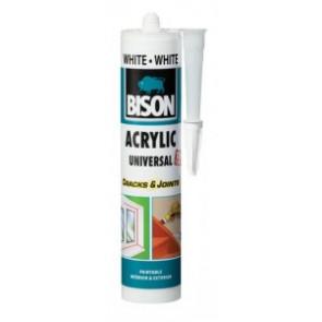 Bison Acrylic Universal White/bílý 300ml kartuš - Akrylátový tmel