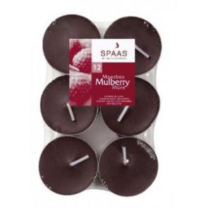 Spaas Čajové 12ks Mulberry vonné svíčky zatavené
