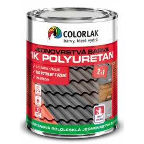 Colorlak 1K POLYURETAN U2210 RAL 6005 zelená - 0,6 L