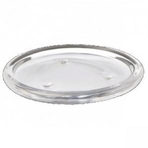 Svícen sklo 110mm kulatý masiv čirý