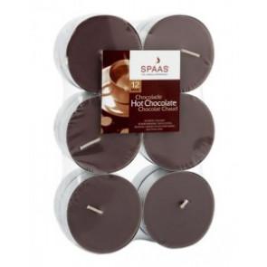 Spaas Čajové Maxi 12ks Hot chocolate vonné svíčky zatavené