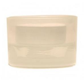 Svícen sklo 57x83 bílý na mal./velkou čajovou svíčku