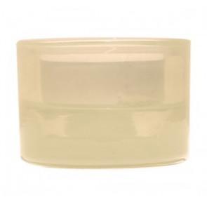 Svícen sklo 57x83 slonová kost na mal./velkou čajovou svíčku