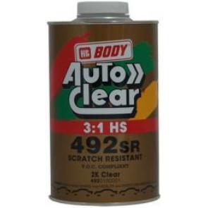 Body - 492 CLEAR LAK 1L-  SR - 2K akrylátový transparentní lak s vysokým leskem s dokonale hladkým povrchem.