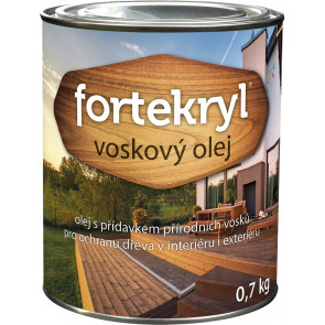 FORTEKRYL voskový olej 0,7kg teak