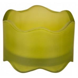 Svícen sklo 50x72mm kiwi na MAX čajovou svíčky