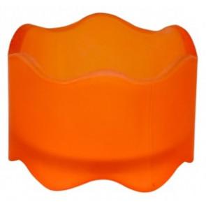 Svícen sklo 50x72mm oranžový na MAX čajovou svíčky
