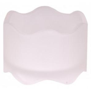 Svicen sklo 50x72mm mléčný na MAX čajovou svíčky