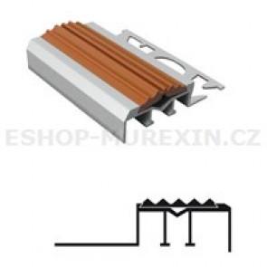 MUREXIN Profil schodový ALU s PVC vložkou MS 8 hnědá