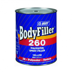 Body 260 1L polyesterový stříkací tmel béžový bodyfiller dvousložkový