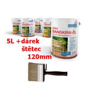 Aidol Gartenholz ,zahradní Olej 5L- Bezbarvý (Universal-oil farblos) Olej pro dřevěné terasy a zahradní nábytek