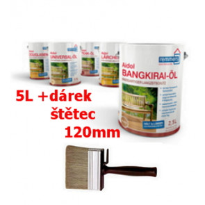 Aidol Gartenholz ,zahradní Olej 5L- Douglasien Olej pro dřevěné terasy a zahradní nábytek