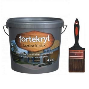 FORTEKRYL lazura KLASIK 4,5 kg ořech