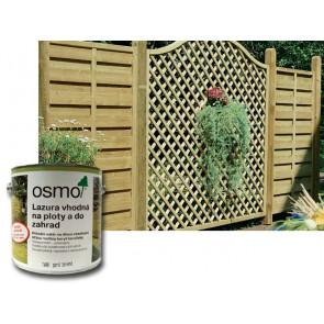 OSMO Lazura vhodná na ploty a do zahrad 7600 2,5 l hnědá