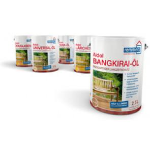 Aidol Gartenholz ,zahradní Olej 2,5L- Bankirai -Olej pro dřevěné terasy a zahradní nábytek