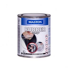 Maston  RUBBERcomp stříbrný na kola vysoký lesk -  ochranný snímatelný gumový nástřik 1L