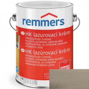 REMMERS HK lazurovací krém STŘÍBŘITĚ ŠEDÁ 2,5L