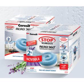 Ceresit Stop vlhkosti, levandule náhradní tablety Aero 2x 450g